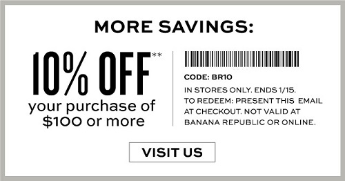 Coupon for: Banana Republic Factory Stores, New arrivals from $19.99