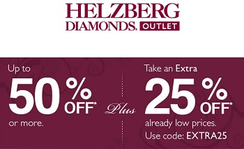 Coupon for: Helzberg Diamonds Outlet, Receive extra discount