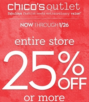 Coupon for: Chico's Outlets, Amazing savings up to 40% off