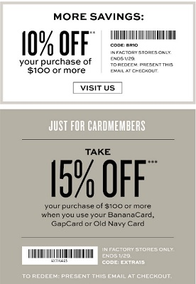 Coupon for: Banana Republic Factory Stores, New arrivals from $19.99 + extra savings