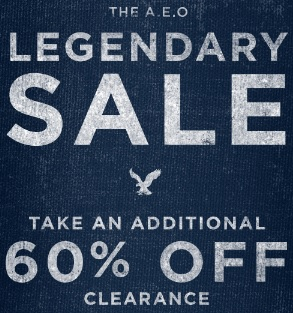 Coupon for: American Eagle Outfitters, Legendary SALE