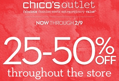 Coupon for: Chico's Outlets, Savings throughout the store ...
