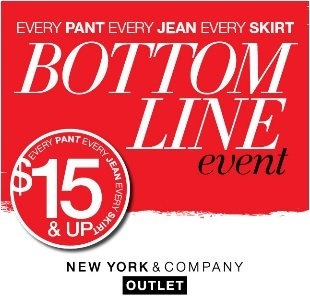 Coupon for: New York & Co., Premium Outlets, Bottom Line Event