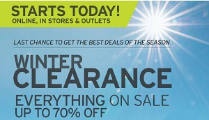 Coupon for: Eddie Bauer, Winter Clearance