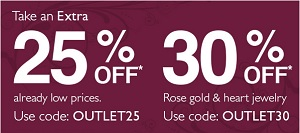 Coupon for: Helzberg Diamonds Outlet, up to an extra 30% off