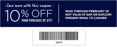Coupon for: Gap Factory, Entire Store Event