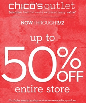 Coupon for: Chico's, Entire store on Sale
