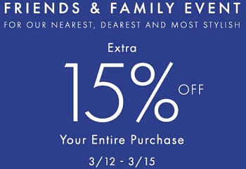 Coupon for: Ann Taylor Factory Stores, Friends & Family Event