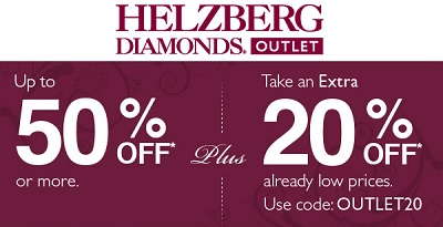 Coupon for: Helzberg Diamonds Outlet, up to 50% off