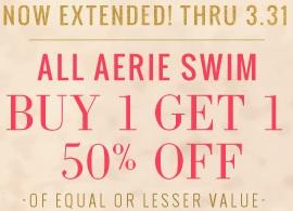 Coupon for: aerie, Special bogo offer extended