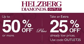 Coupon for: Helzberg Diamonds Outlet Stores, Spring Into Outlet Savings