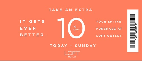 Coupon for: LOFT Outlet Stores, The best Spring Sale ever