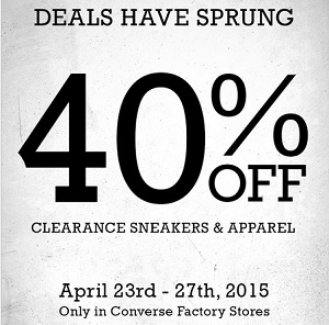 Coupon for: Converse Factory Stores, Deals have sprung