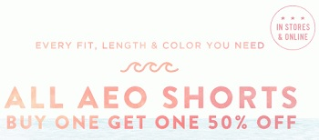 Coupon for: American Eagle Outfitters, AEO Shorts BOGO offer