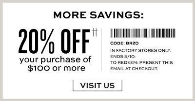 Coupon for: Banana Republic Factory Stores, Sale coupon