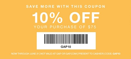 Coupon for: Gap Factory Stores, Leslie's Father's Day Cheat Sheet ...