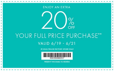 Coupon for: Ann Taylor Factory, Time for a tops Sale ...