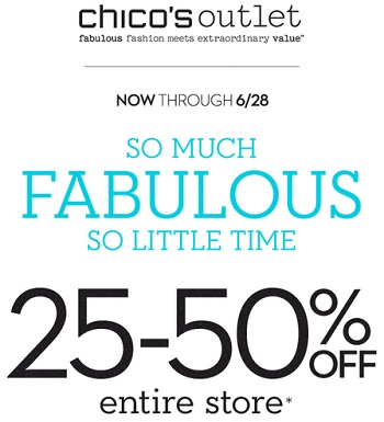 Coupon for: Chico's Outlets, Tick, Tock, It's Time To Shop ...