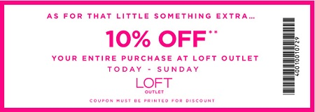 Coupon for: LOFT Outlets, Shopping with Sale coupon ...