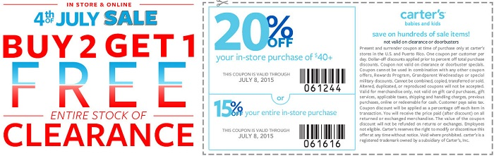 Coupon for: 4th of July Sale at carter's