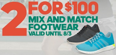 Coupon for: adidas Outlet Stores, Mix & Match Footwear