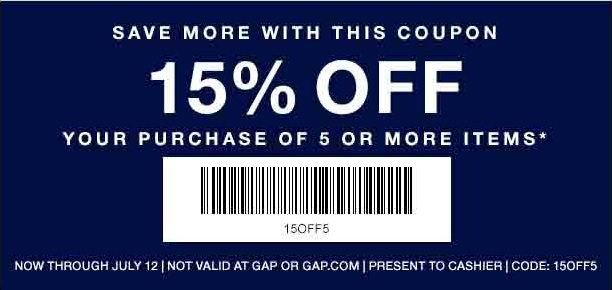 Coupon for: Gap Factory Stores, Save with coupon