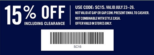 Coupon for: Gap Factory Stores, Extra savings