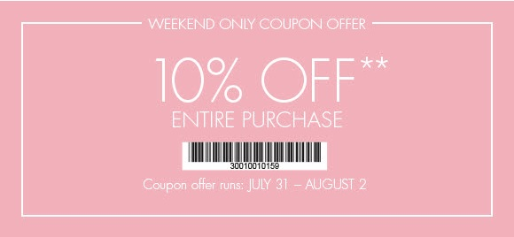 Coupon for: Ann Taylor Factory, Save money during the weekend ...