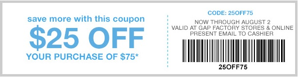 Coupon for: Gap Factory Stores, Save more with coupon ...