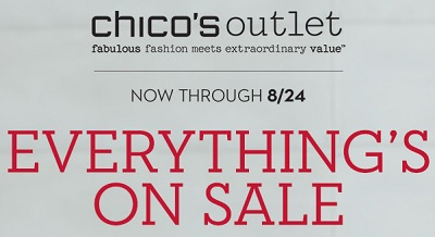 Coupon for: Chico's Outlets, Everything on Sale ...