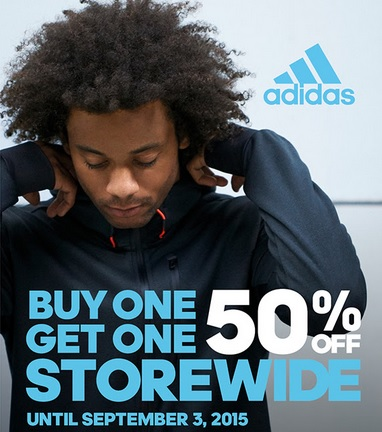 Coupon for: adidas Outlet Stores, BOGO sale offer ...
