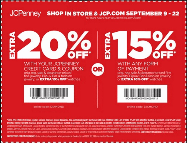Coupon for: JCPenney, Shopping with in-store printable coupon...