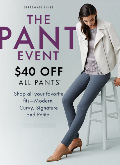 Coupon for: Ann Taylor Factory Stores, The pant event ...