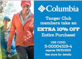 Coupon for: Columbia Sportswear Company outlet stores & Tanger Outlets ...