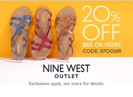 Coupon for: Nine West outlet stores & Tanger Outlets