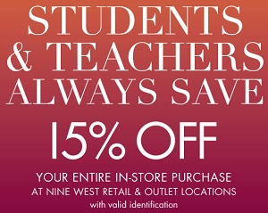 Coupon for: Nine West Outlets, Students & Teachers Sale ...