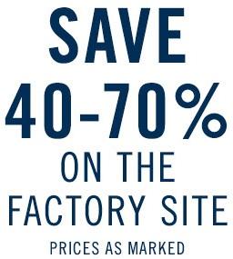 Coupon for: Save big at Nautica Factory