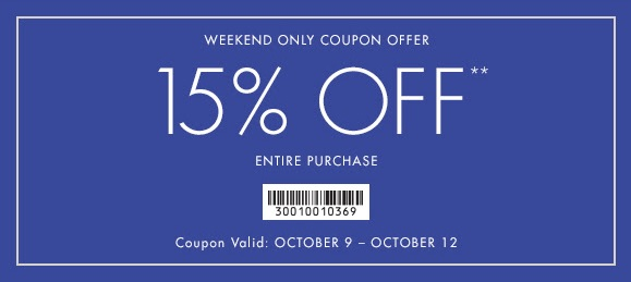 Coupon for: Ann Taylor Factory, Columbus Day Sale 2015 ...
