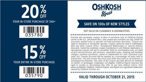 Coupon for: OshKosh B'gosh, Save with printable coupon ...