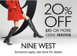 Coupon for: Sale at Nine West stores at Tanger Outlets ...