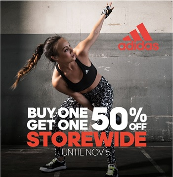 Coupon for: BOGO offer at adidas Outlet Stores ...