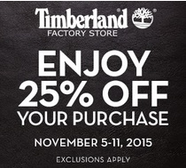Coupon for: Save money at Timberland Factory Stores at Premium Outlets ...