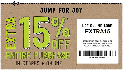 Coupon for: Last 2 days of savings at Crazy 8 Outlets