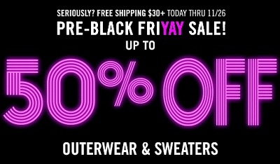 Coupon for: Forever 21, Pre-Black Friday Sale 2015 ...