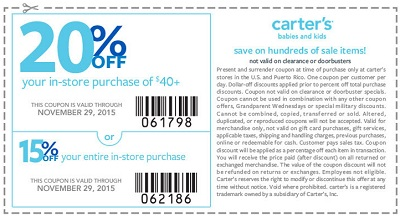 Coupon for: carter's , Early Black Friday Sale 2015 ...
