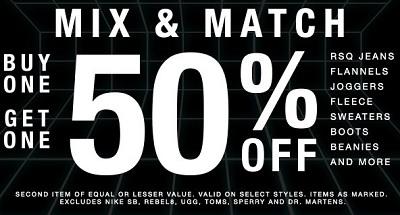 Coupon for: Tillys, Mix & Match offer ...