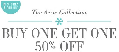 Coupon for: aerie, Buy one, get one with discount ...
