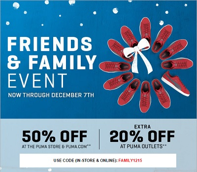 Coupon for: PUMA, Friends & Family Sale Event ...