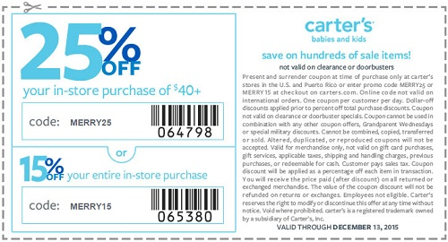Coupon for: carter's, Shopping with printable coupon ...
