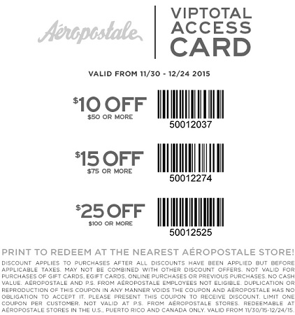 Coupon for: Aéropostale, Spend more, save more ...